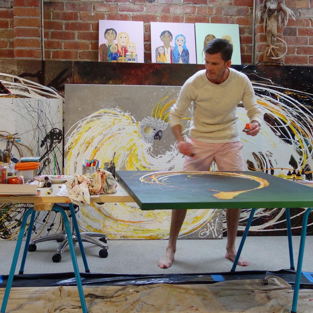 Gav Barbey in his Studio