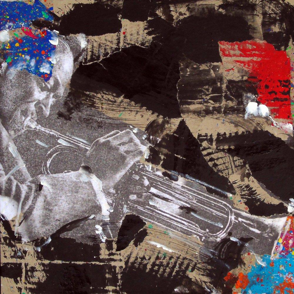 Natino Chirico Miles 30cm x 30cm Acrylic and Mixed Media on Canvas