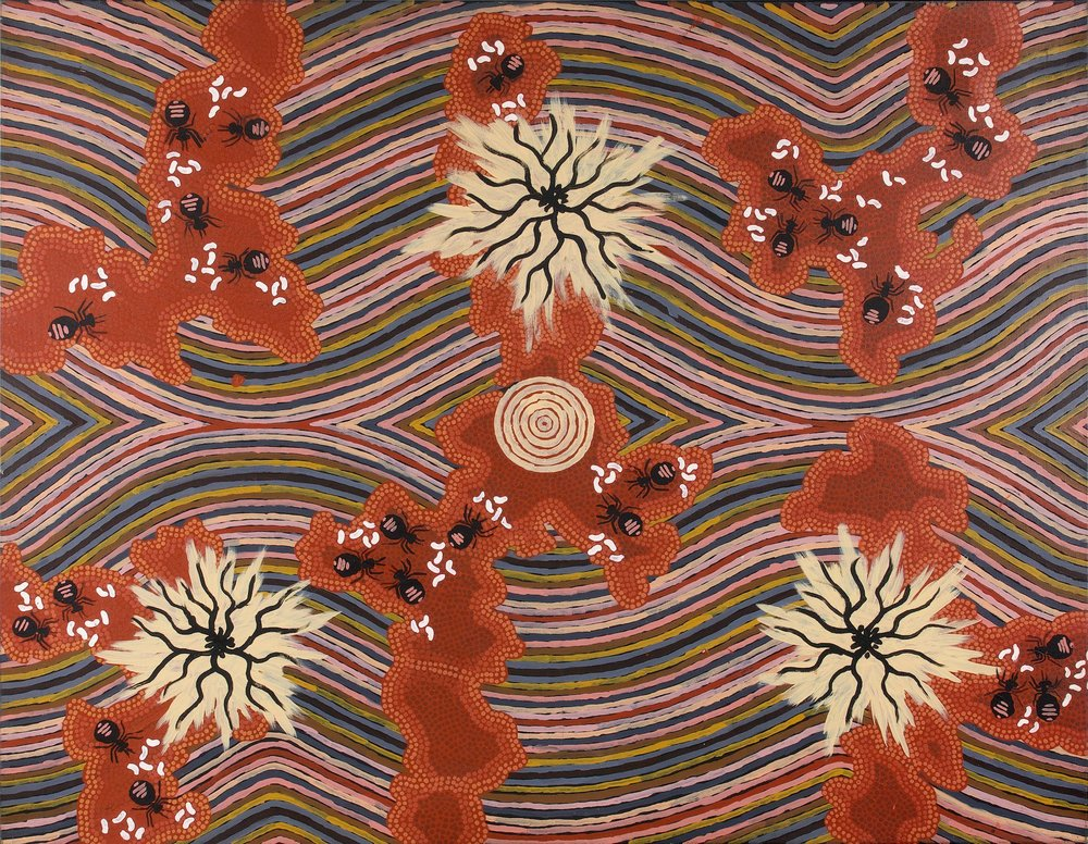 Clifford Possum Tjapaltjarri 'Honey ant dreaming'  (1995) 161x127
