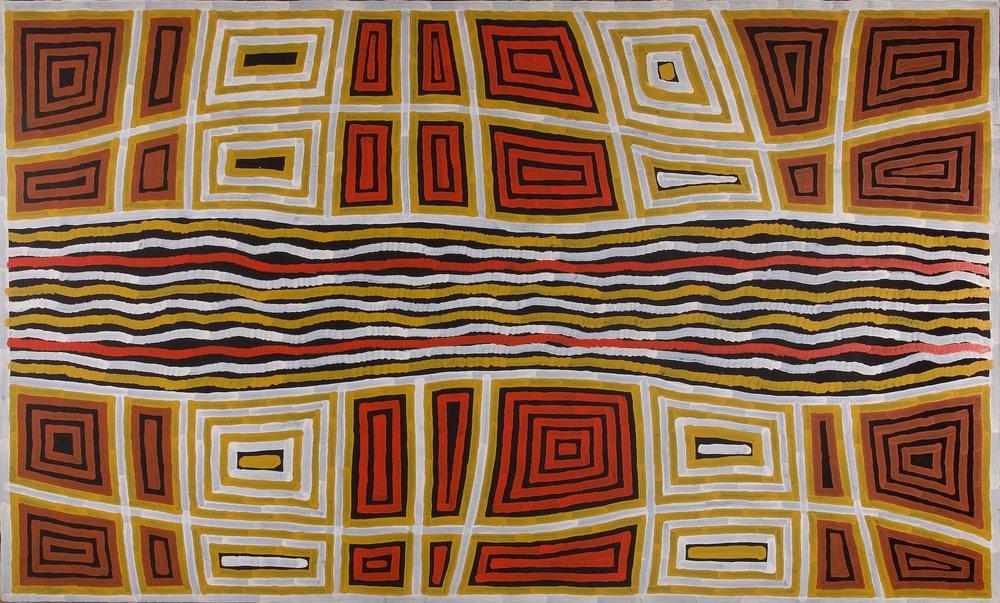 Turkey Tolson Jupurrula 'Tingari Songlines' (2000) 204x123