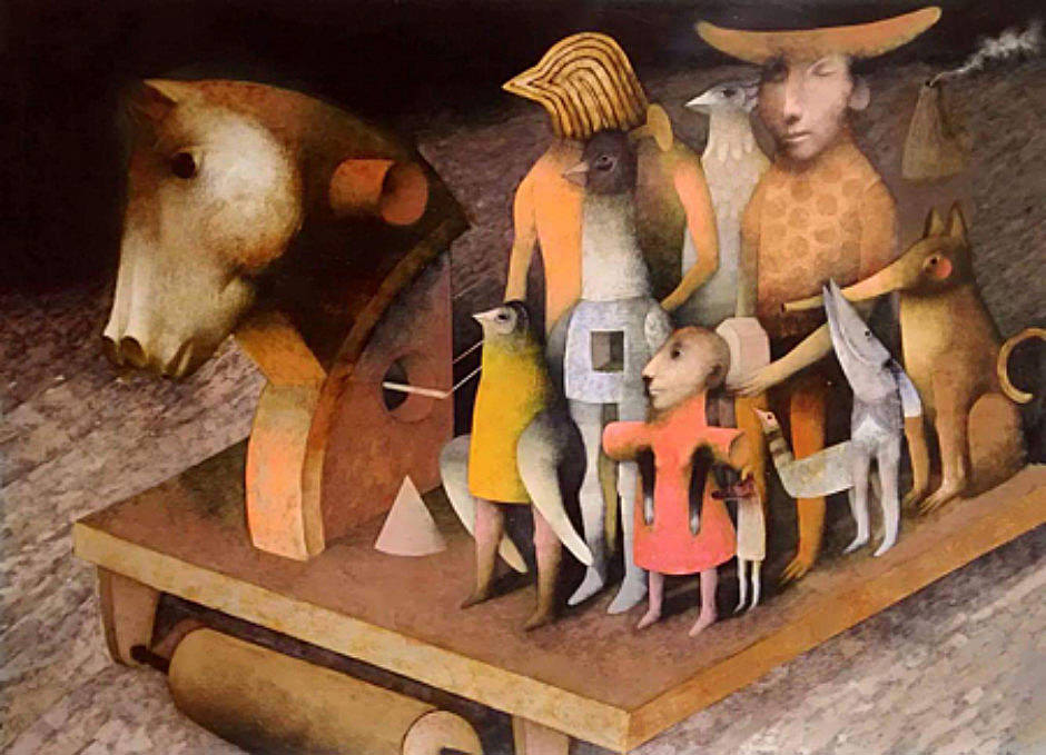 Joselito Sabogal Transcendent Gallop Oil 109 x 78 cm