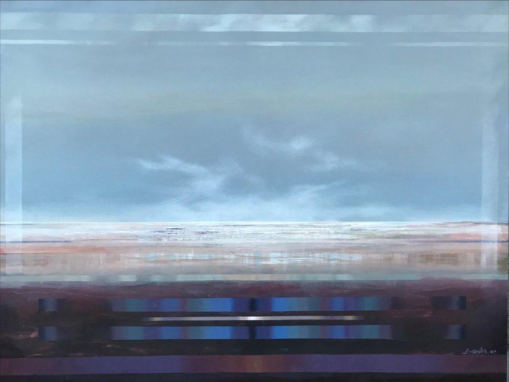 Amanda McShanage Across the Simpson Acrylic on canvas 94 x 124 cm