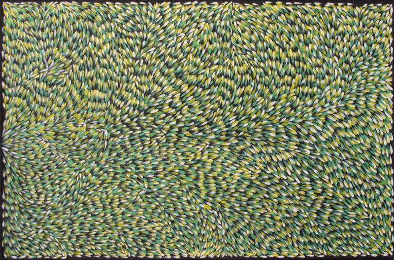 Gloria Petyarre  Bush Medicine Leaves Acrylic on Linen 120 x 180 cm  $1950 / Year