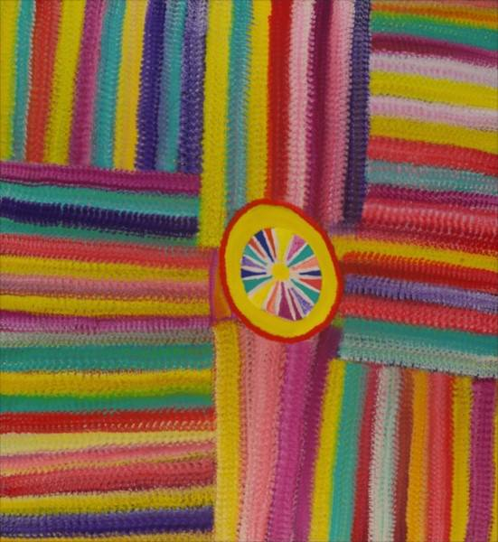Barney Ellaga  Minyerri Acrylic on Linen 123 x 133cm  $675 / Year