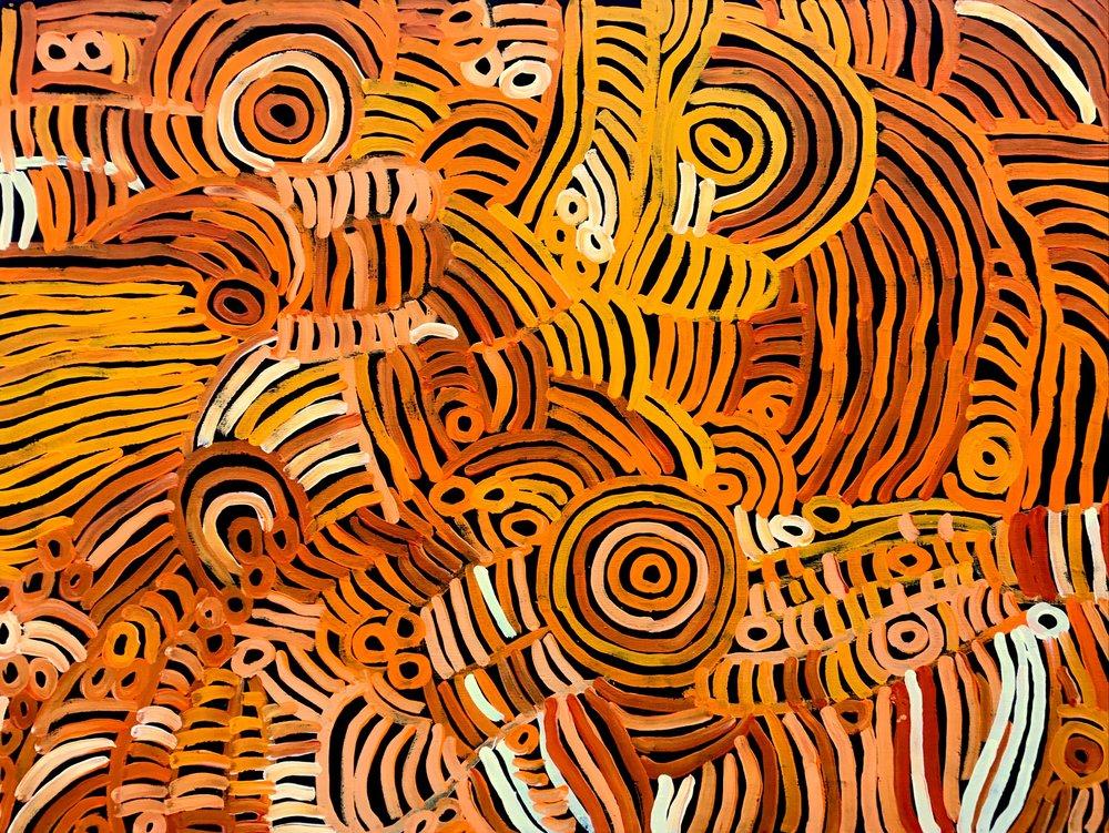 Charmaine Pwerle  Awelye Acrylic on Linen 90 x 120cm  $425 / Year