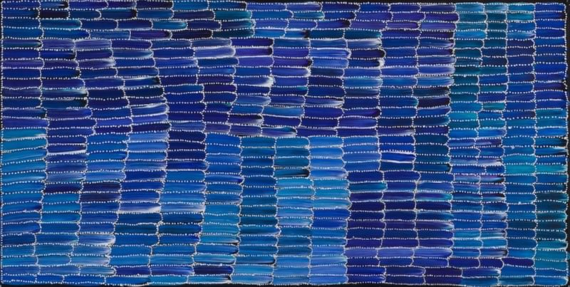 Jeannie Mills  Anaty (Wild Yam) Acrylic on Linen 60 x 120cm  $275 / Year