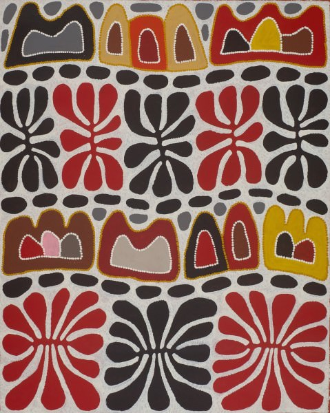 Mitjili Napurrula  Watiya Tjuta & Irantji Acrylic on Linen 93 x 117 cm  $385 / Year