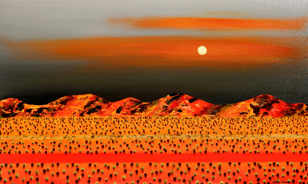 Full Moon Rising 90x150 #17663