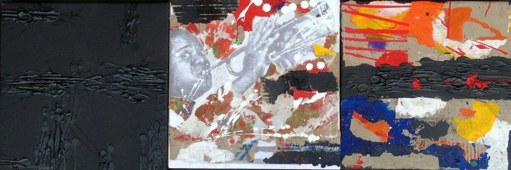 Natino Chirico ' Black Trio' #16834