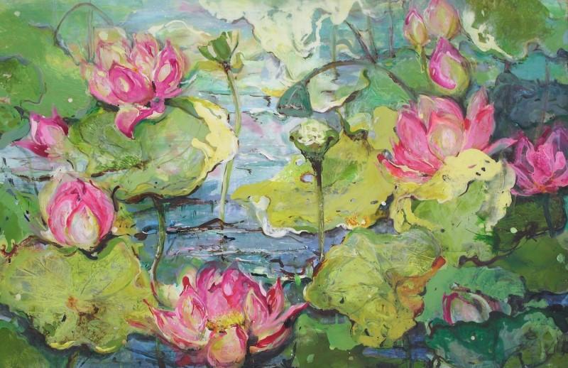 Dianne Ogg 'Pink Lotus I' #15103
