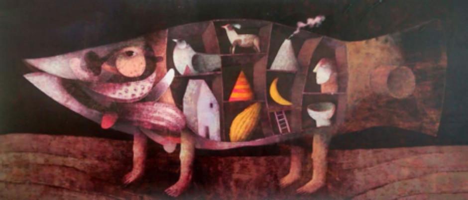 Joselito Sabogal ' Dreaming of Magical Fish' #17121