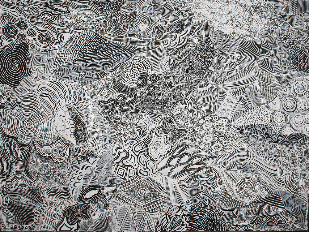 Elsie Granites Napanangka My Country 2017 Acrylic On Linen 120 x 90 cm #18089