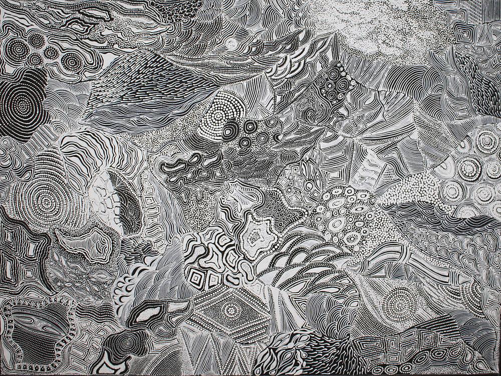 Elsie Granites Napanangka My Country 2017 Acrylic On Linen 120 x 90 cm #18089