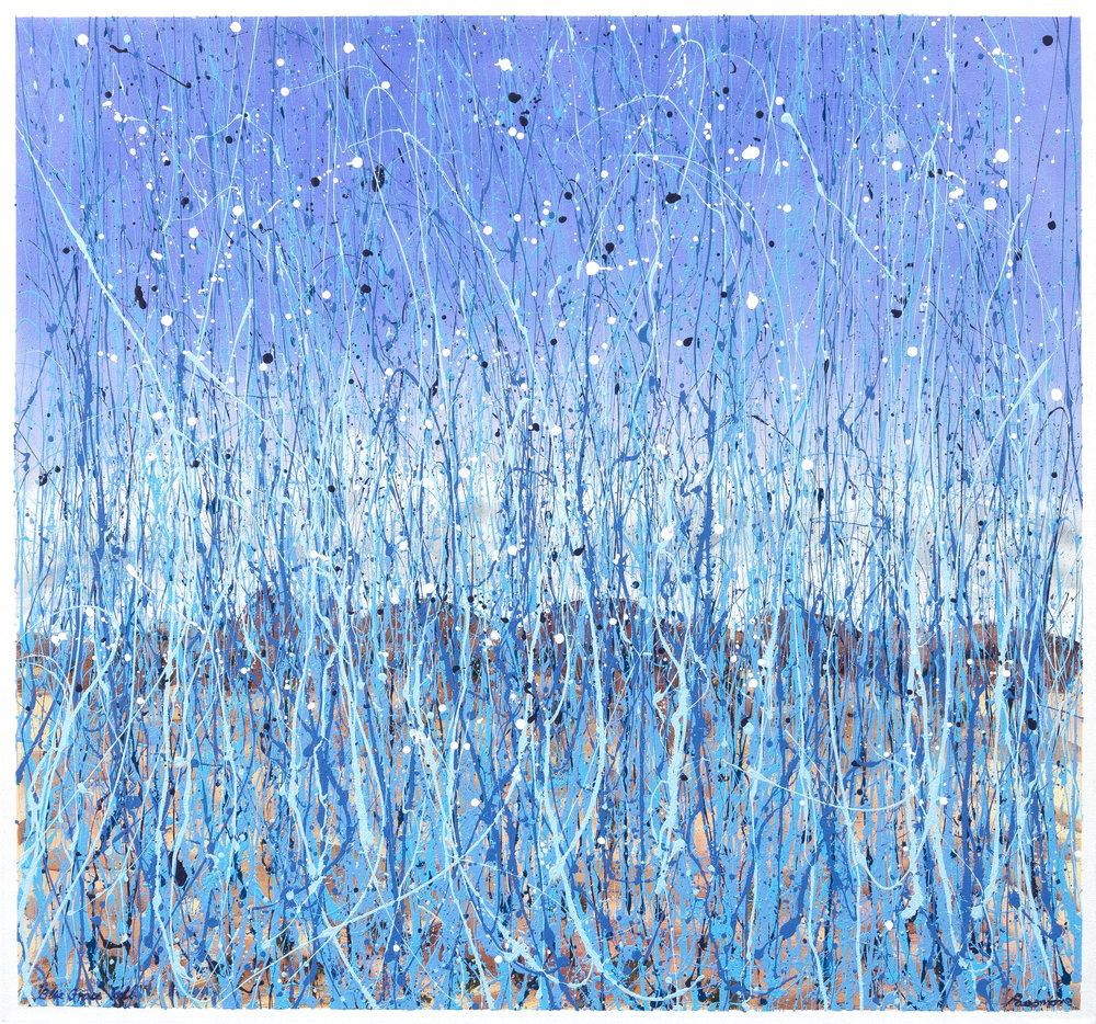 Colin Passmore  Blue Grass , 2017 Acrylic on Canvas 140 x 150cm