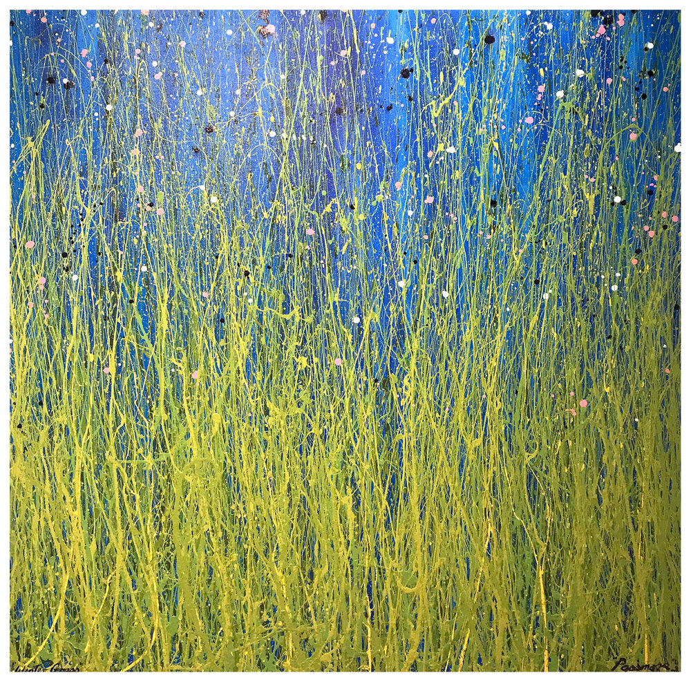 Colin Passmore  Winter Grass , 2017 Acrylic on Canvas 120 x 120cm
