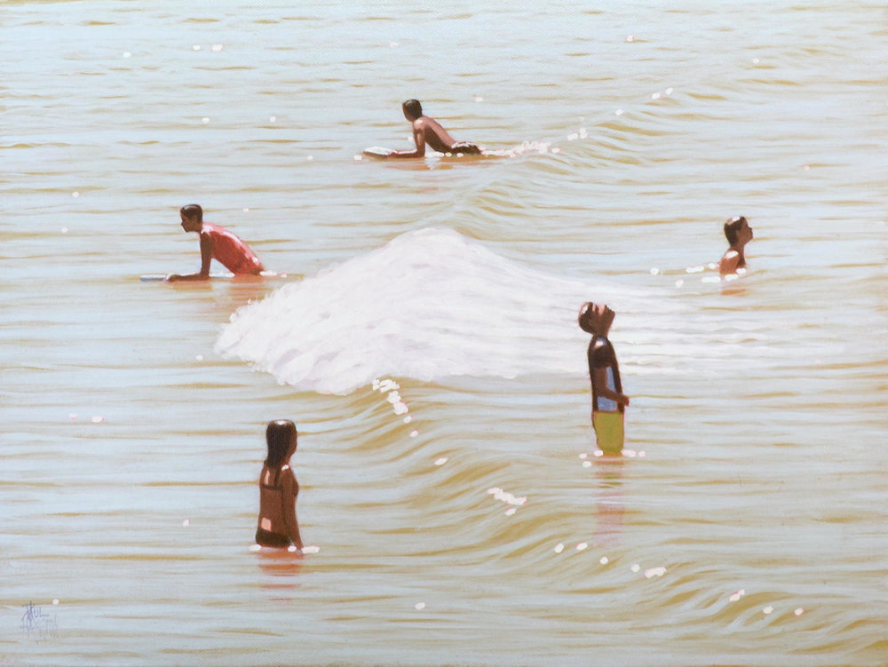 Paul haggith 5 Bathers No. 1 Oil on Linen 45cm x 61cm