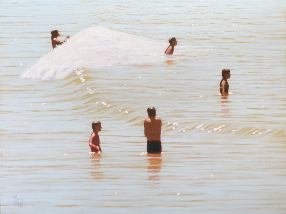 Paul haggith 5 Bathers No. 2 Oil on Linen 45cm x 61cm