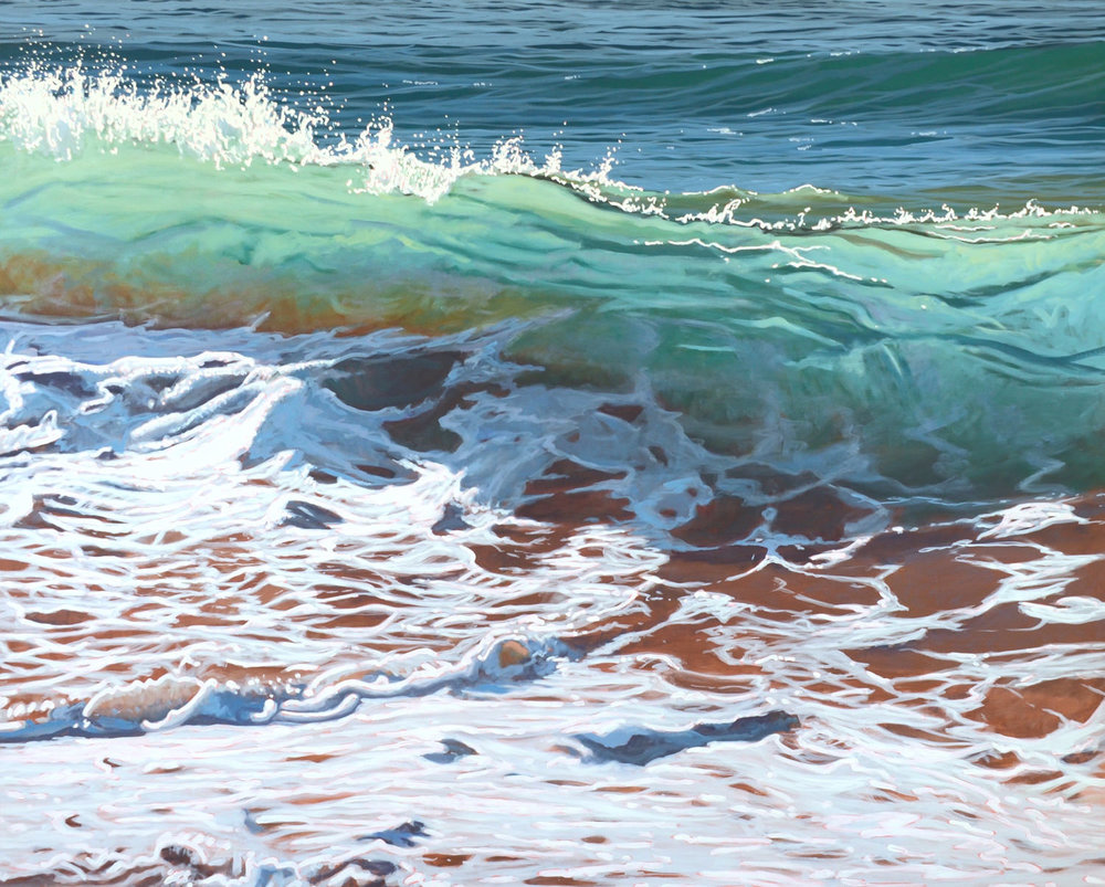 Paul Haggith Shorebreak No.14 Oil on Linen 123cm x 154cm