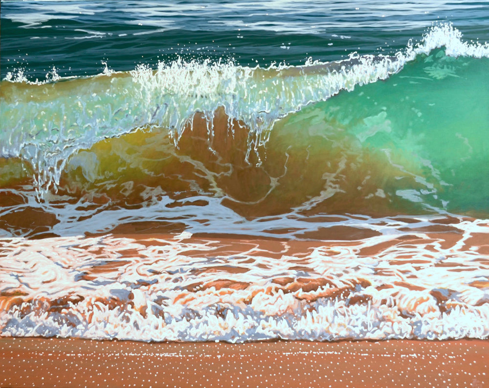 Paul Haggith Shorebreak No.15 Oil on Linen 123cm x 154cm
