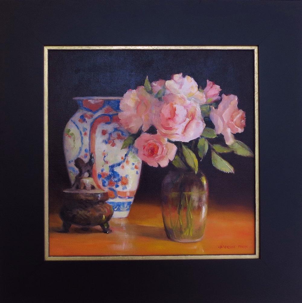 Jacqueline FowlerSummer Roses , 2018 Oil on Canvas60 x 60 cm.jpg