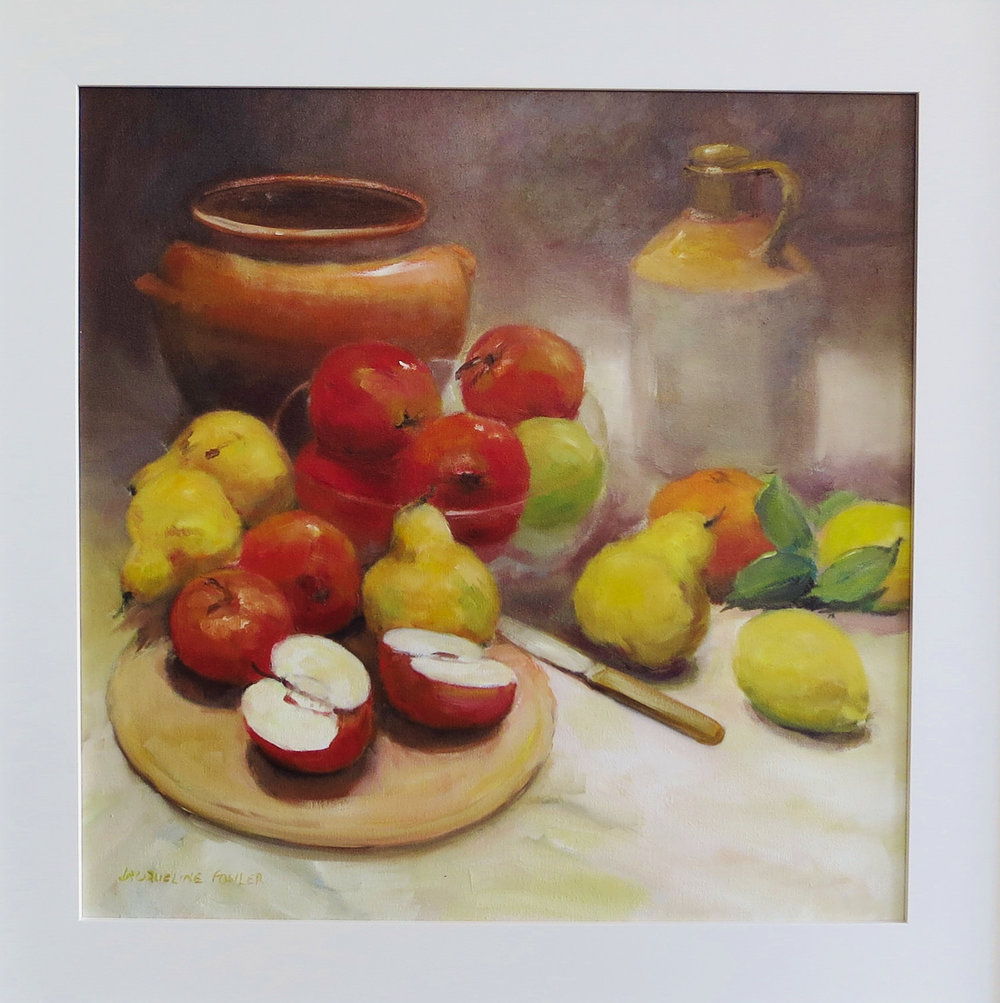 Jacqueline FowlerApples and Pears, 2018 Oil on Canvas66 x 66 cm.jpg