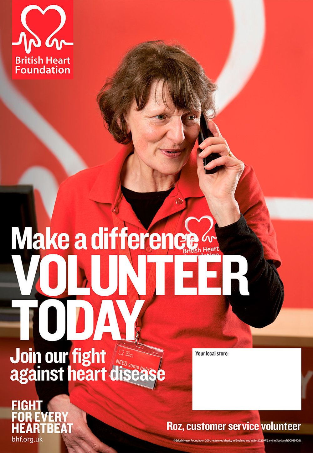 British Heart Foundation Volunteering Campaign