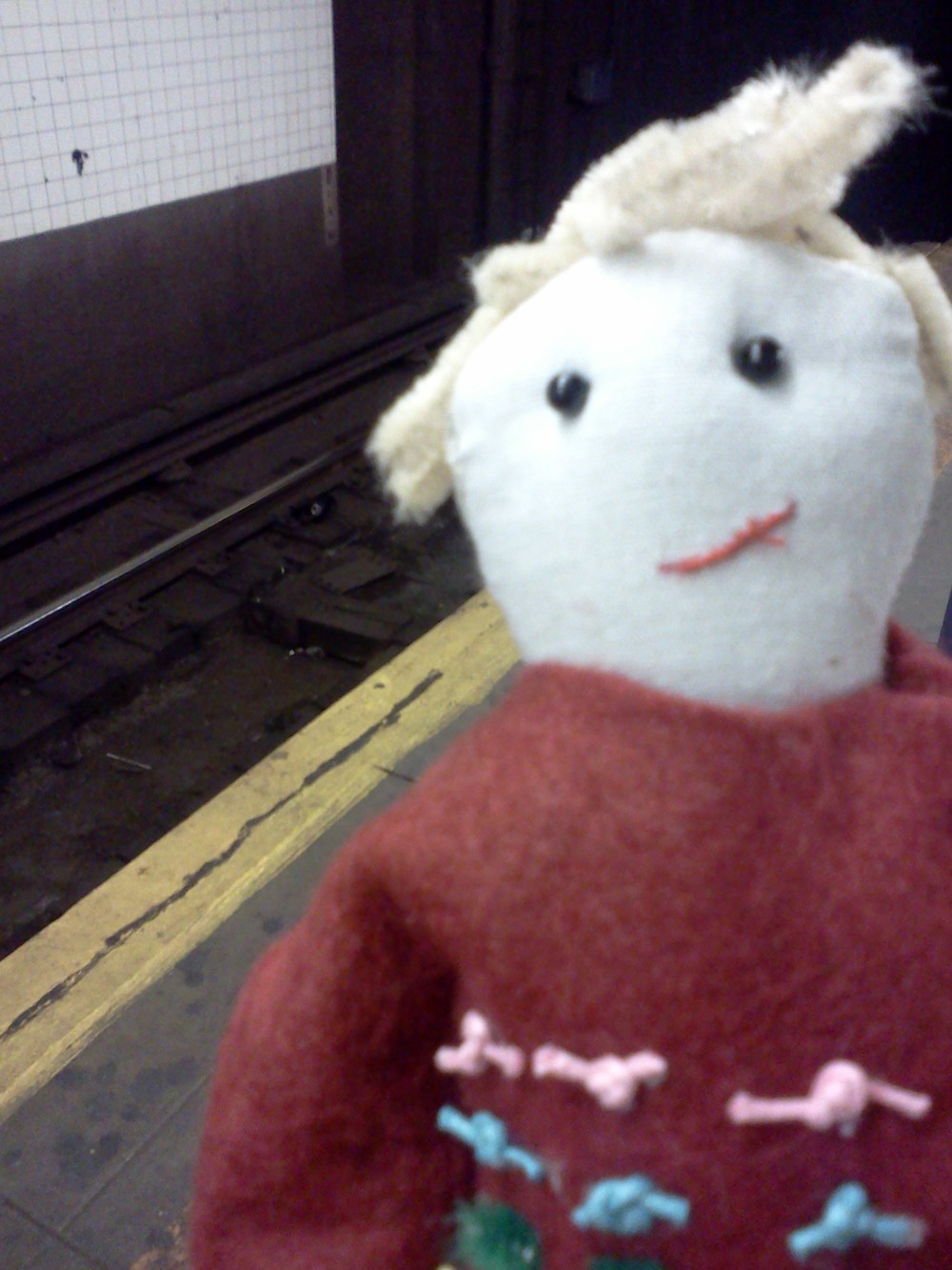 Matthew waiting for the F train.