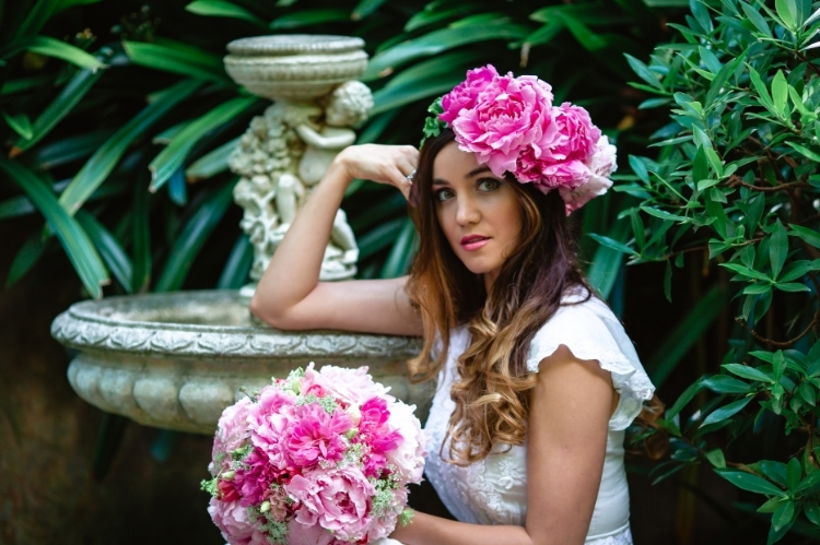 Garden Wedding - Floral Crown and bridal bouquet.jpg