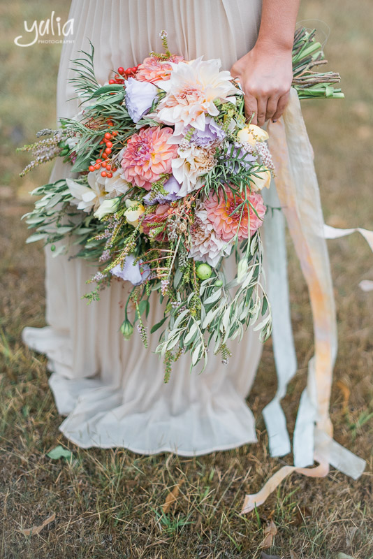 Oversized natural wide organic bridal bouquet with hand dyed silk ribbons.jpg
