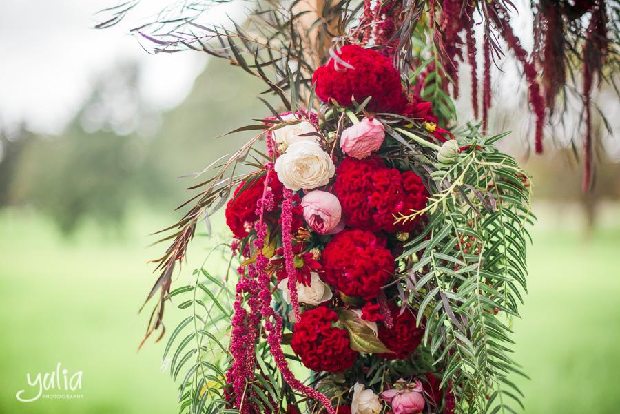 Burgundy maroon colour floral arch.jpg