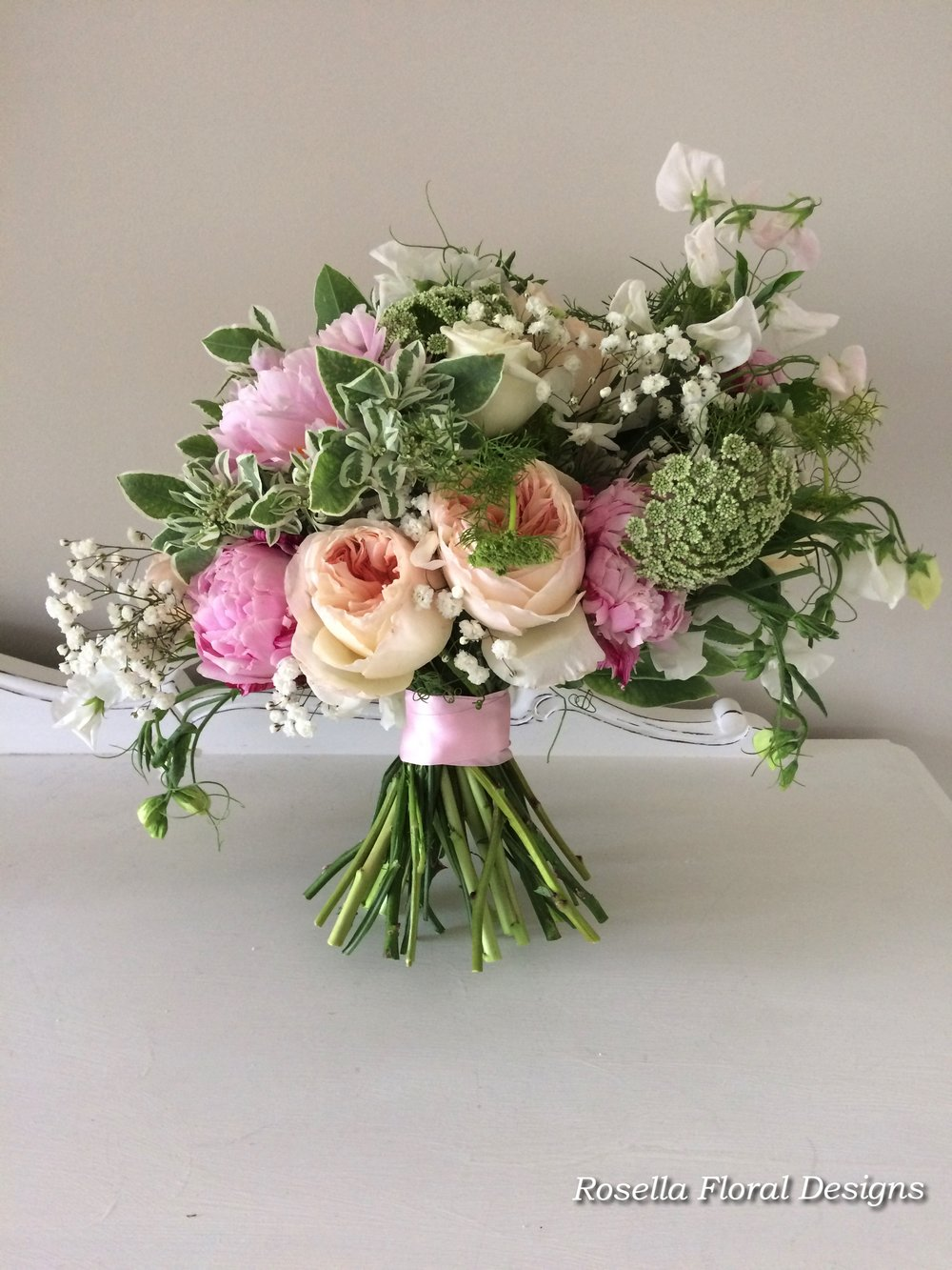 Loose natural bridal bouquet peonies david austin roses.jpg
