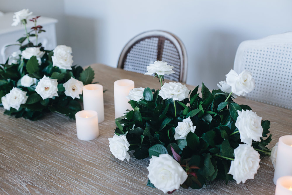 Bridal table flowers and candles.JPG