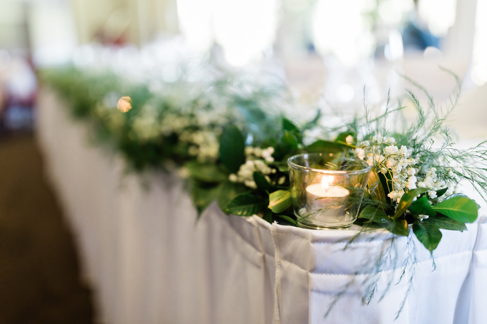 White & green table garland bridal table flowers.jpg
