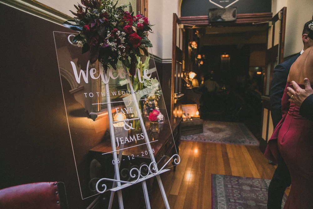 Wedding welcome sign Australian native flowers.jpg