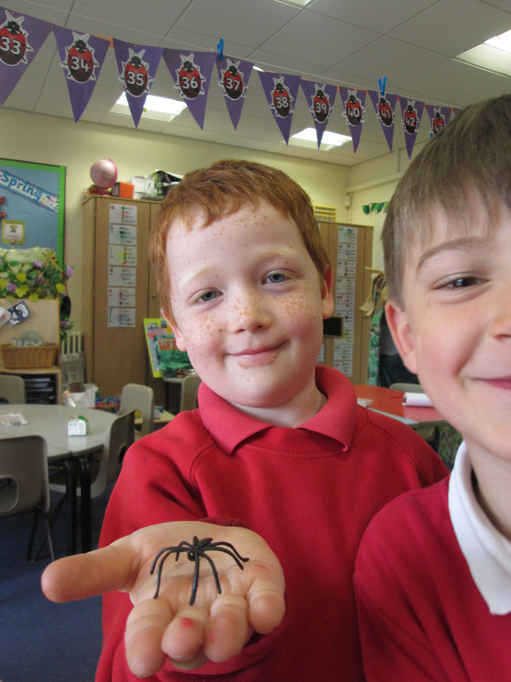 Thomas overcame his fear of spiders this week.  We are all extremely proud of you Thomas.  Well done!