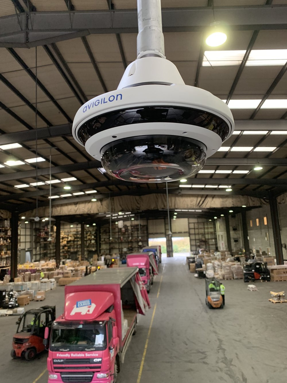 Multi- sensor camera installed in a logistics centre