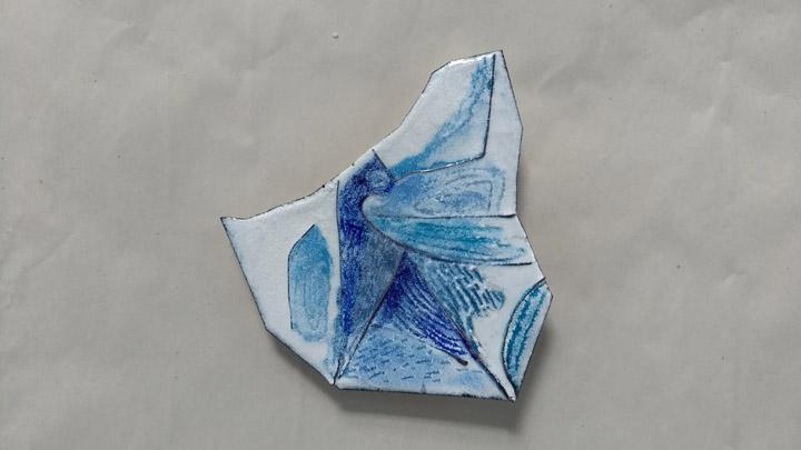Anne Dinan's magnetic brooch,  Iceberg .