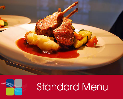 + view the Standard Menu