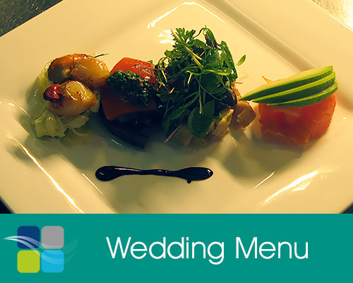 + view the Wedding Menu