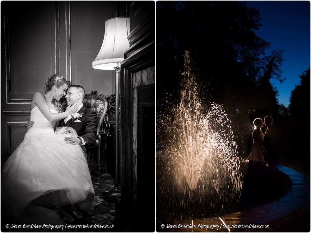 Left image s  hot using the Lowel GL1 LED Hotlight focused down to a small spot and camera right.    Right images  hot using the  GL1 LED Hotlight focused down to a small spot and placed behind the wedding couple.