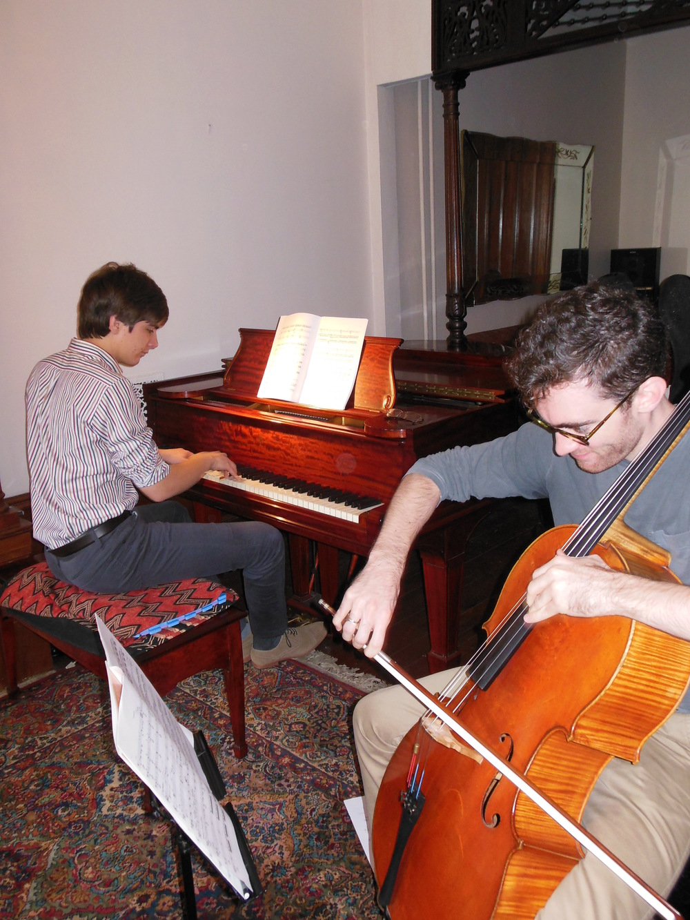 Nathaniel LaNasa (left) and Colin Stokes in rehearsal. Photo: Katarina Godár