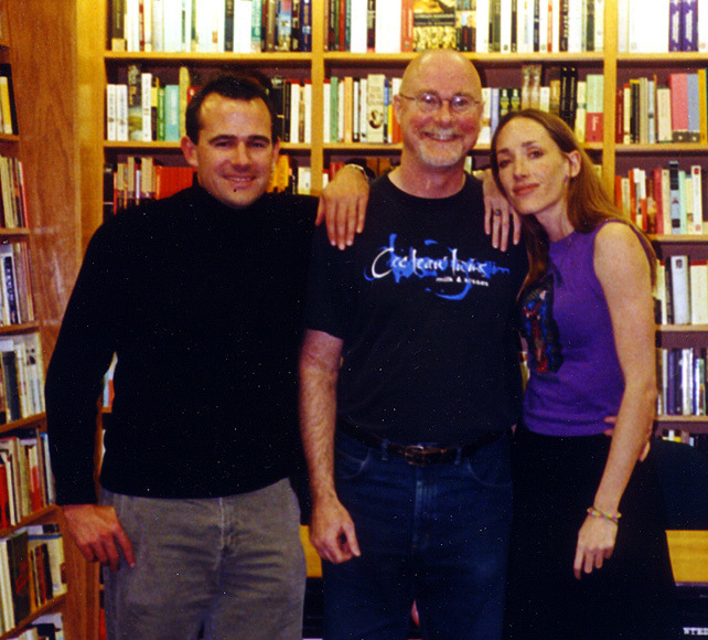 With Mark Z. Danielewski, and his sister the singer Poe, 2000.