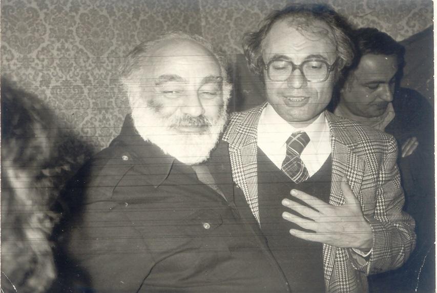 Sergei Parajanov (l) and Tigran Mansurian (r)