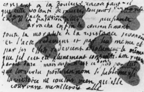 Playing card with Rousseau's notes Credit: Hanser Verlag
