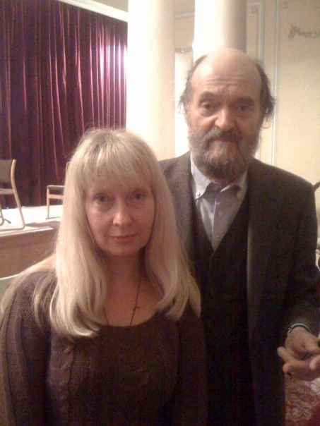 Victoria Polevá with Arvo   Pärt. Courtesy of Victoria Polevá.