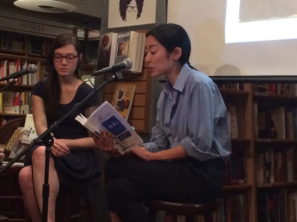 Sarah Gerard (left) and Katie Kitamura (right) discuss Clarice Lispector at McNally Jackson. Photo: Justin Alvarez.