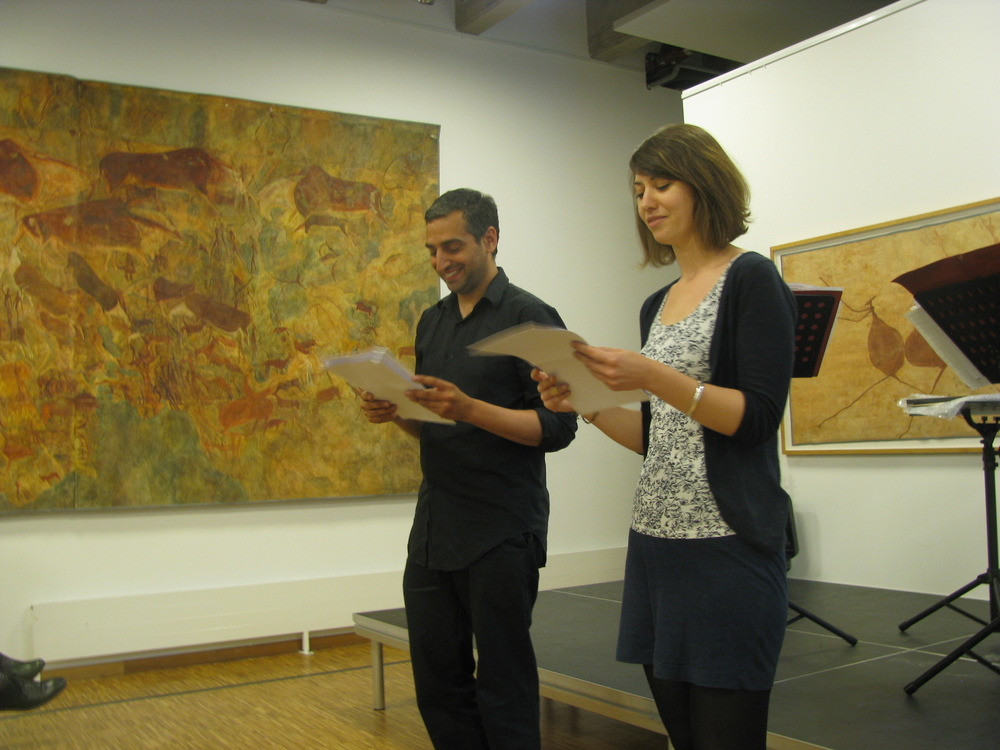 Daniel Medin and Madeleine LaRue reading Mary Ruefle's poetry.