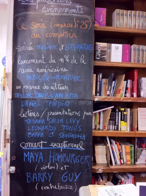 Le comptoir des mots announces M&L.