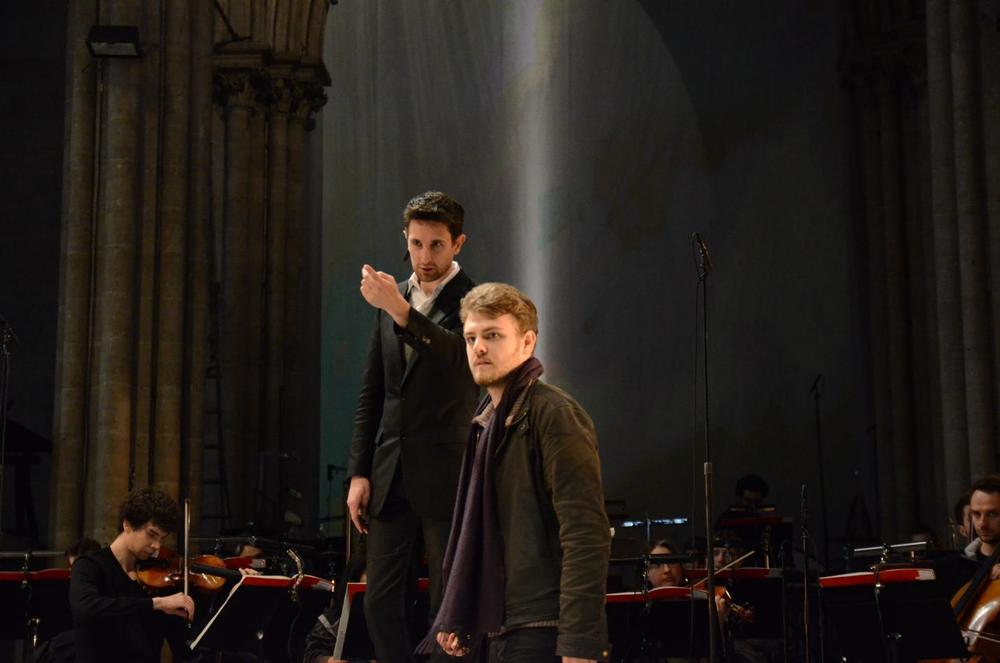 Clément Mao-Takacs (conductor) and Aleksi Barrière (stage director). © Festival de Saint-Denis 2014