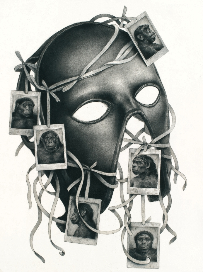 "Sverre Malling, ""Mask: Primates."" 57 x 53 cm, 2013. Courtesy of the artist."
